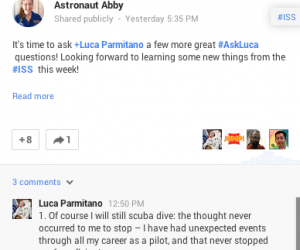 #AskLuca: Details from the ISS