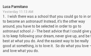 #AskLuca: How to Become an Astronaut