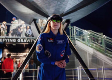 My Experience Defying Gravity: Microsoft HoloLens Women in Space Exhibit at the Intrepid Museum