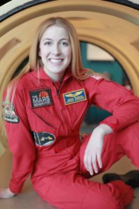 Astronaut Abby Red Flight Suit Friday