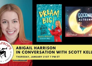 Abigail Harrison_Scott Kelly_Malaprops_Book Launch_Dream Big_The Mars Generation